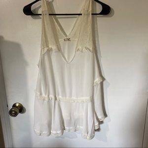 Intimately Free People White Lace Tank Top size L